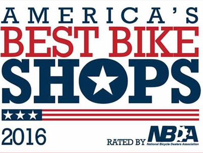 We are honored to receive 2016 Top Bike Shop award.