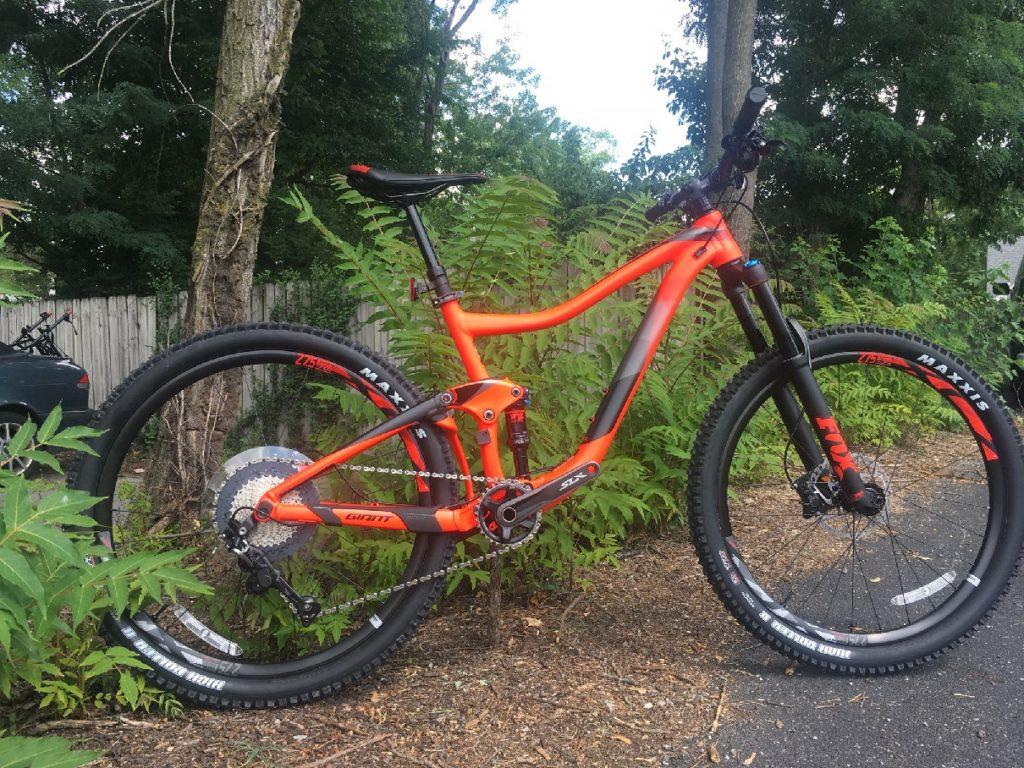 Red Giant Full Suspension Mountain Bike